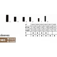 Гильза обжимная CANNELLE Sleeve 985N №0 (черная) 1200-099