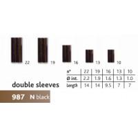 Гильза обжимная CANNELLE Double Sleeve 987N №10 (черная) 1202-104