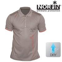 Футболка NORFIN Polo Beige (L)
