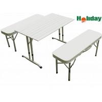 Стол складной алюминиевый со скамейками HOLIDAY Vector