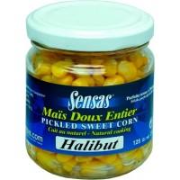 Зерна кукурузы, палтус SENSAS Sweetcorn Halibut 212 г 09259
