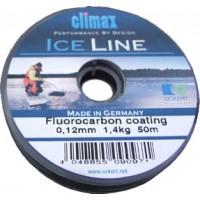 Леска зимняя CLIMAX Ice 25m – 0,12 mm (серебристо-серая)