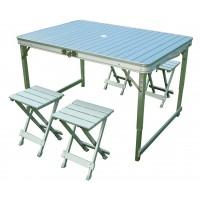 Стол складной алюминиевый с четырьмя стульями CANADIAN CAMPER CC-TA838