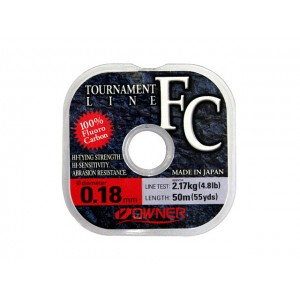 Леска OWNER Tournament Line Fluorocarbon 50m – 0,18mm