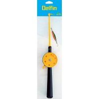 Набор DELFIN: снаряженная зимняя удочка с блесной в блистере D10