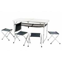 Стол складной алюминиевый с четырьмя стульями CANADIAN CAMPER CC-TA 407S